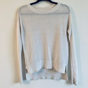 LOFT Cream/Ivory Crochet Knit Sweater | S